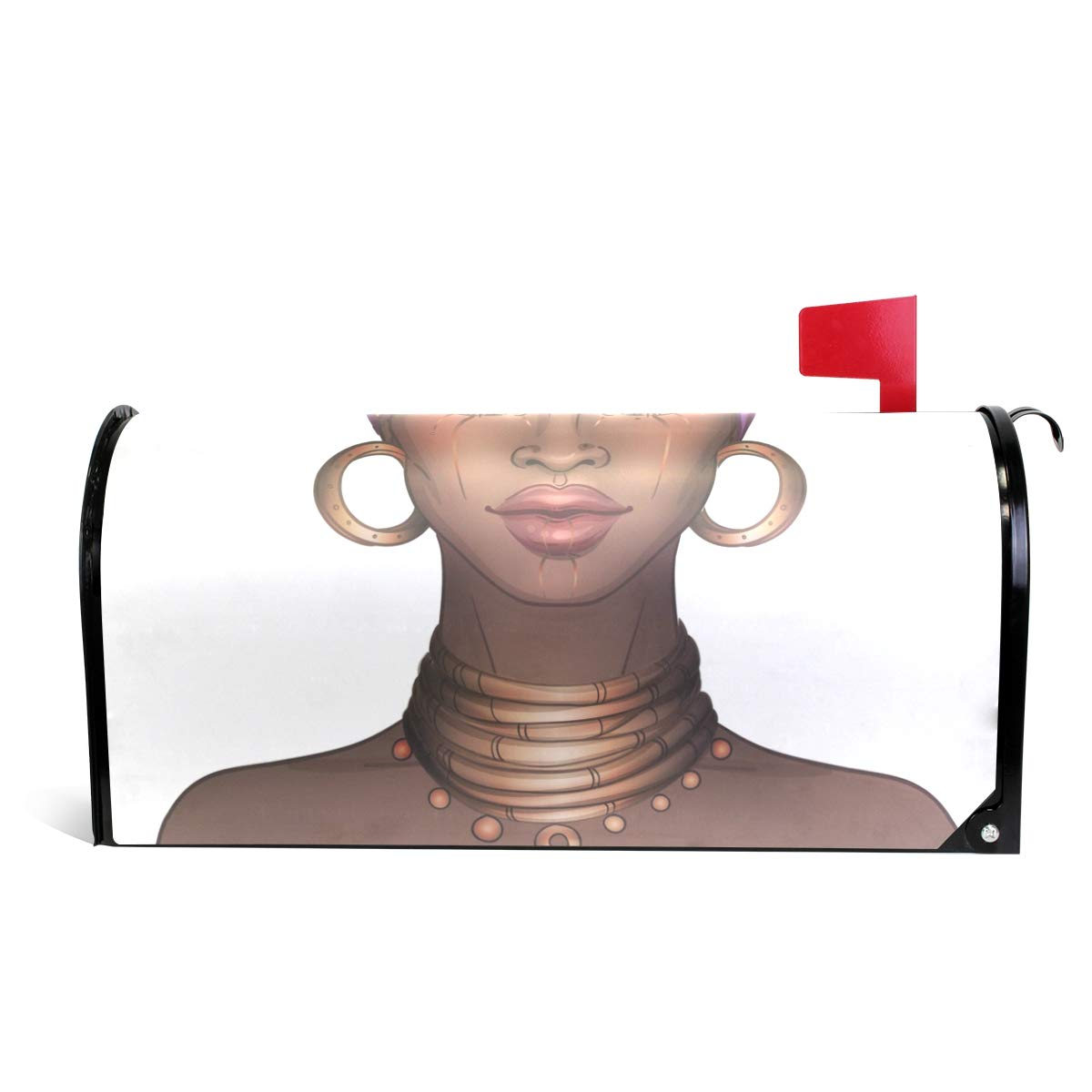 CiCily Magnetic Mailbox Cover African American Women Decoration for House Garden