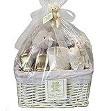 Petit Tresor Exclusive Baby Gift Basket - Twins: One Boy, One Girl