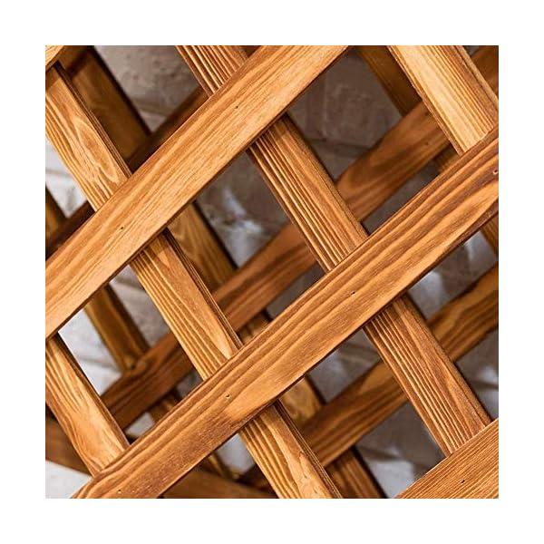 HEMFV Solido Fiore Legno Posizione Balcone Fence Wood Floor Minimalista Moderno Flower Pot Stand al Coperto Soggiorno 5 spesavip