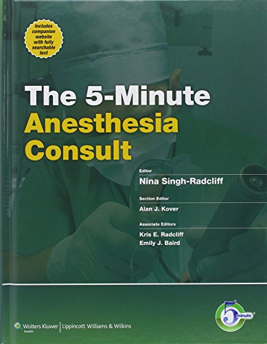 5-Minute Anesthesia Consult (The 5-Minute Consult Series)
