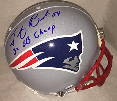 Tedy Bruschi signed 3X SB Champs autographed fs Proline Helmet JSA LOA Patriots auto