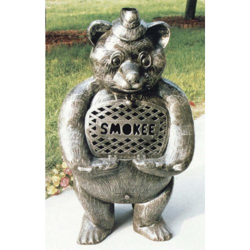 Bear Smokee Chimenea - Oakland Living Smoke Bear Cast Aluminum Chimenea with Grill