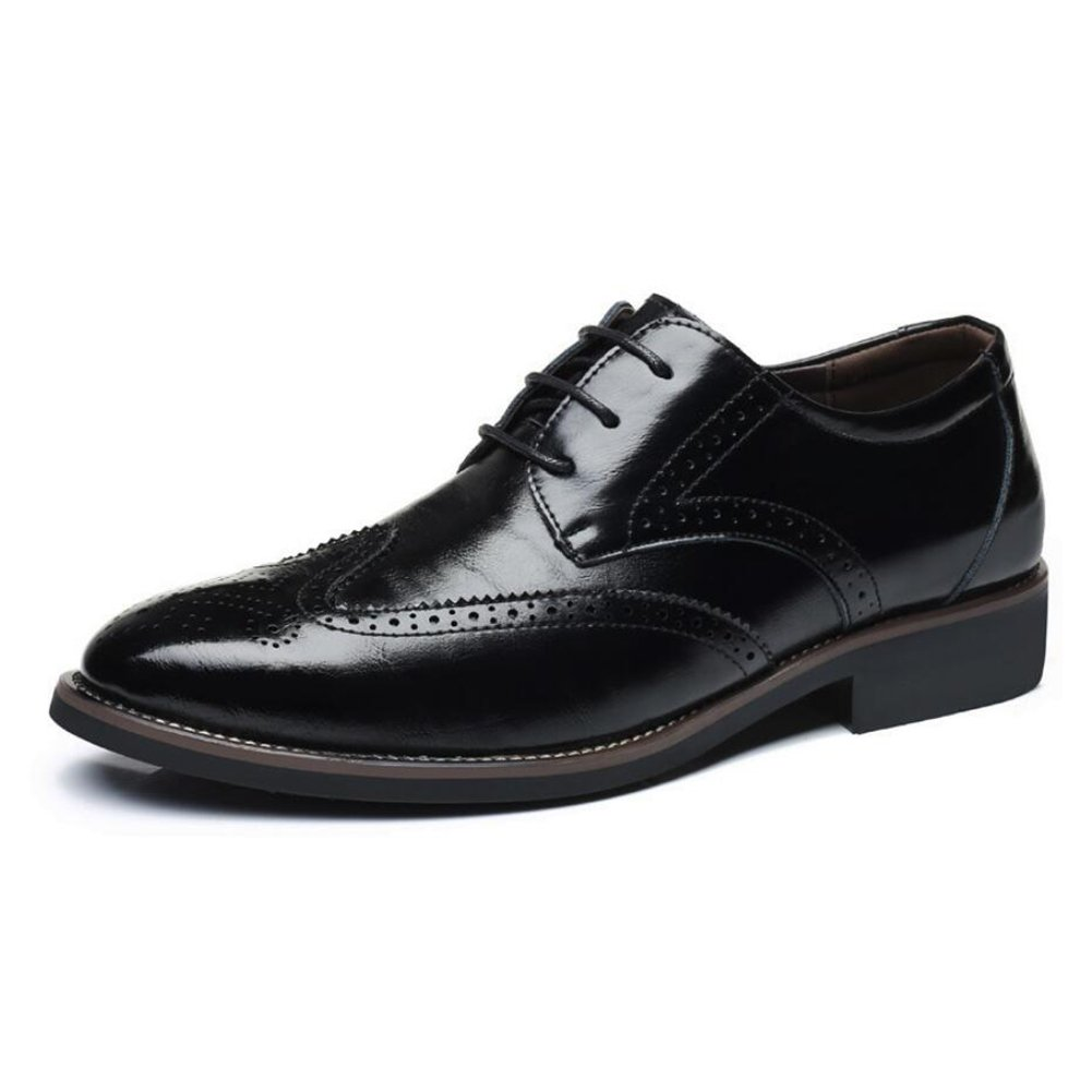 CAI Herren Schuhe Leder Formale Schuhe Schuhe Schuhe Frühling Winter Herbst Komfort Leder Schuhe Herren Büro Party Hochzeit Schuhe Kleid Schuhe (Farbe   Schwarz, Größe   41) df432c