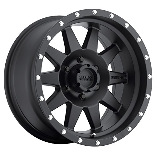 Method Race Wheels The Standard Matte Black Wheel with Stainless Steel Accent Bolts (17x9