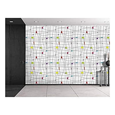 Beautiful Design, Large Wall Mural Abstract Lines Pattern Vinyl Wallpaper Removable Decorating, Premium Product