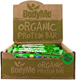 BodyMe Organic Vegan Protein Bar | Raw Cacao Mint | Box of 12 x 60g (2.12oz) | With 3 Plant Proteins