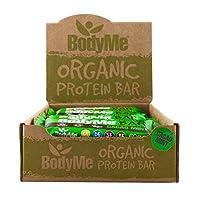BodyMe Organic Vegan Protein Bar | Raw Cacao Mint | Box of 12 x 60g (2.12oz) | With 3 Plant Proteins