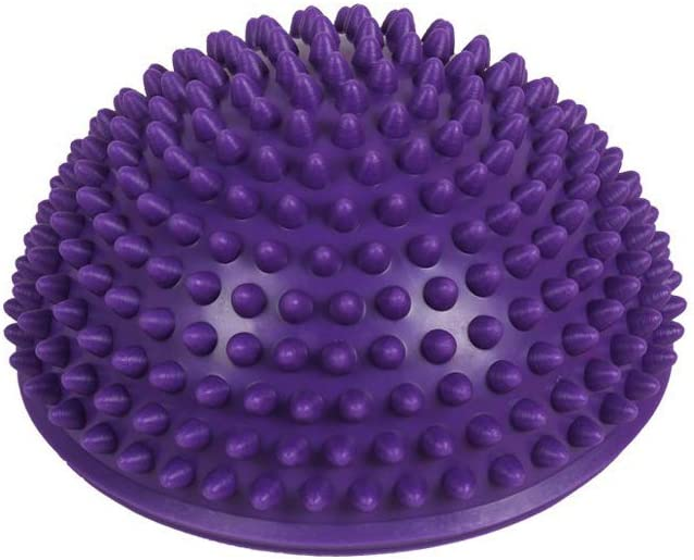 Massage Hemisph/äre Ball Gleichgewicht und Motorik Training IHOMYIPET Igel Balance Pods mit Pumpe Blau