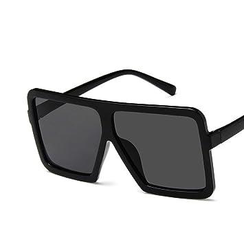 Losenlli Moda Grande Forma Cuadrada Mujeres Hombres Gafas de Sol UV400 Gafas de Sol Gafas de Sol de Hip Hop Gafas de Sol de Montura Total PC Marco ...