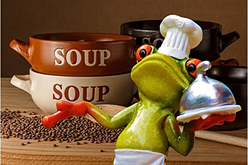 Home Comforts Peel-n-Stick Poster of Kitchen Frog Cooking Delicious Gourmet Eat Soup Vivid Imagery Poster 24 x 16 Adhesive Sticker Poster Print ()