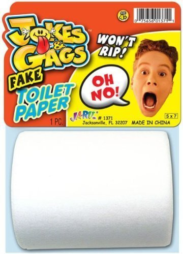 - Jokes and Gags Fake Toilet Paper