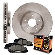 Front Premium OE Blank Rotors and Ceramic Pads Brake Kit KT044541 | Fits: 2009 09 2010 10 2011 11 2012 12 Toyota Corolla