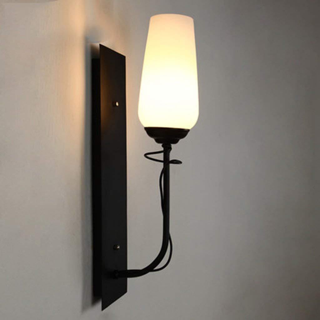 Irinay Kreative Mode Wandleuchte Lampe Licht Minimalistischen Die Schlafzimmer Korridor Des Bettes Beleuchtung Wandlampe Vintage (Farbe   Schwarz-Größe)