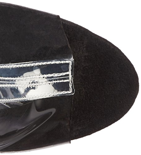 Pleaser DELIGHT-1017RSF Clr-blk/Dark Pewter Chrome wc9fqGjyy