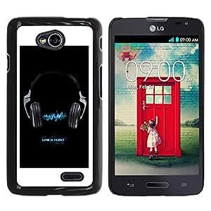 LECELL -- Funda protectora / Cubierta / Piel For LG Optimus L70 / LS620 / D325 / MS323 -- Music Live 4 Music --