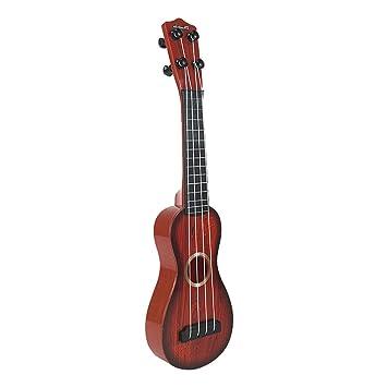 Juguete Musical Ukelele Pequeña Plástico de 4 Cuerdas para Principiantes Niños