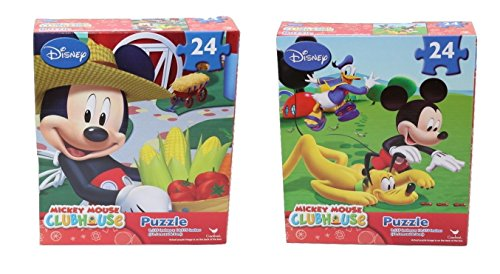 Price comparison product image Disney's Mickey Mouse Clubhouse 24 Piece Puzzles (2 Pack)