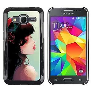 TopCaseStore / la caja del caucho duro de la cubierta de protección de la piel - Cute Fantasy Girl - Samsung Galaxy Core Prime SM-G360