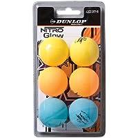 DUNLOP Pelotas Tenis Mesa Club Nitro Glow 6 Tricolor