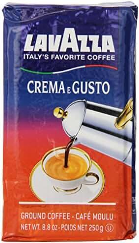 Lavazza Crema e Gusto - Ground Coffee, 8.8-Ounce Bricks (Pack of 4)
