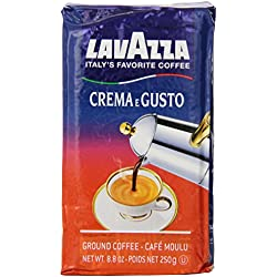Lavazza Crema e Gusto - Ground Coffee, 8.8-Ounce Bricks (Pack of 4)