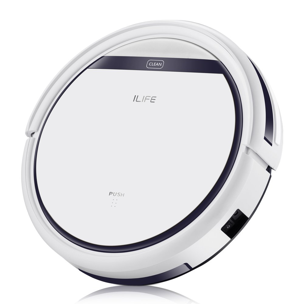 ILIFE V3s Pro Robotic Vacuum, Newer Version of V3s, Pet Hair Care, Powerful Suction Tangle-free, Slim Design, Auto Charge, Daily Planning, Good For Hard Floor and Low Pile Carpet