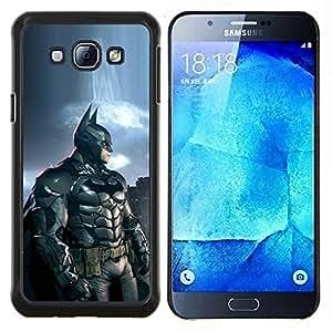 Bat Superhéroe- Metal de aluminio y de plástico duro Caja del teléfono - Negro - Samsung Galaxy A8 / SM-A800