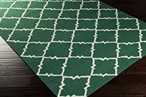 Surya Frontier FT-447 Hand Woven 100-Percent Wool Geometric Accent Rug, 3-Feet 6-Inch by 5-Feet 6-Inch