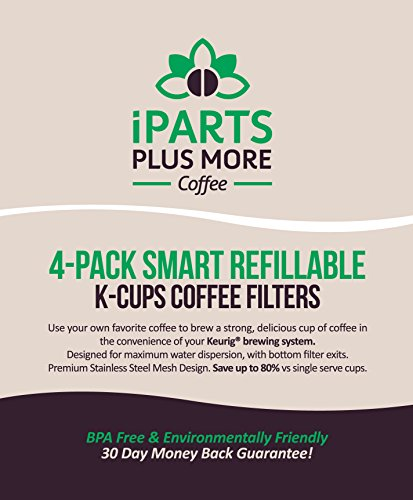 4-Reusable-Single-Cup-Keurig-Solo-Filter-Pod-Coffee-Stainless-Mesh-iPartsPlusMore