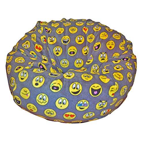 Ahh! Products Emojis Fleece Washable Large Bean Bag Chair Plush by Ahh! Products