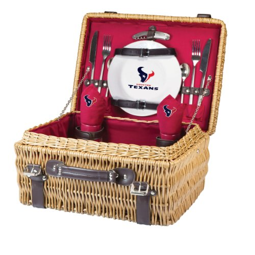 NFL Houston Texans Champion Picnic Basket with Deluxe Service for Two, Red by PICNIC TIME