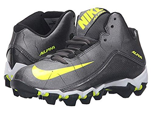 Jongens Nike Alpha Shark 2 3/4 Brede Voetbalcleat Donkergrijs / Zwart / Wit