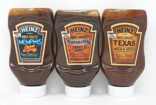 Variety Pack - Heinz BBQ Sauce  - Kansas City Sweet & Smoky,
