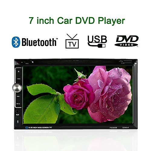 KKmoon 7.0'' Inches Universal In-Dash 2 Double-Din HD Car Stereo DVD Player BT USB/TF FM Aux Input Radio Entertainment Multimedia Receiver