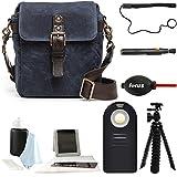 Ona The Bond Street Camera Messenger Bag, Oxford Blue Waxed Canvas & Photographer's Accessory Kit
