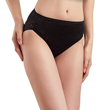 d96d896305d0 Image Unavailable. Image not available for. Colour: HOEREV Women's Pure  Natural Mulberry Silk Lace Underwear Comfort Panties