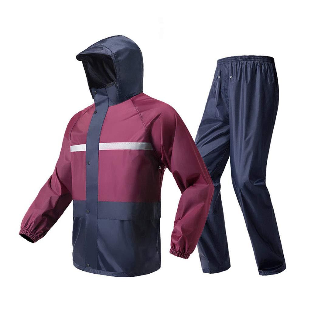 LYP-Rainwear Regenmantel Set Unisex Split-Typ Regen Anzug Atmungsaktiver Regenmantel + Hose Wasserdicht Regenbekleidung für Outdoor Wandern Angeln   Bergsteigen