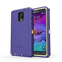 Samsung Galaxy Note 4 Rugged Case,Zerolemon ZeroShock Rugged Case + Belt Clip [Battery NOT Included] (Fits All Versions of Galaxy Note 4) [180 days ZeroLemon Warranty Guarantee] - Yellow /Purple