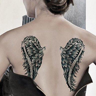 WS la moda grandes tatuajes temporales de arte corporal atractiva ...