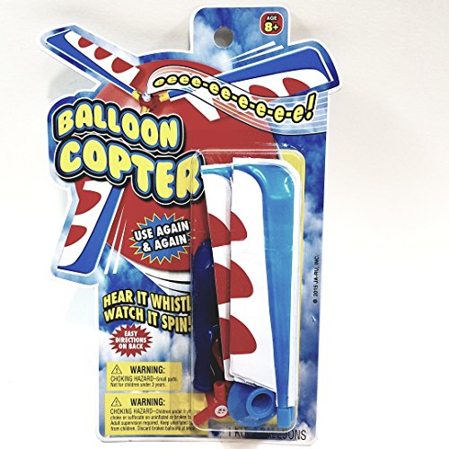 Balloon Copter Foam Body & Plastic Blades Helicopter Ballon Powered