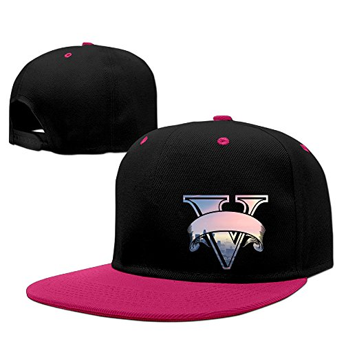 Price comparison product image ^GinaR^ 140g Grand Theft Auto V PC Release Date Unisex Hip Hop Baseball Cap - Pink