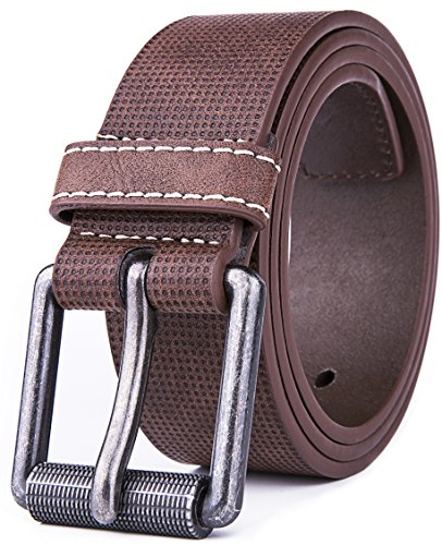 Belt for men, Fashion and Classic Leather belt for Jeans and Work Business - Big Sale New Belts (32, 1 D Brown) by Fabio Valenti