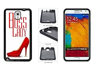 Boss Lady with Red Heels TPU RUBBER SILICONE Phone Case Back Cover Samsung Galaxy Note III 3 N9002