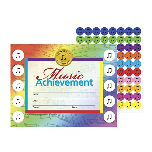 Hayes Music Achievement Stick-To-It Award Certificate, 11 x 8-1/2 inches ()