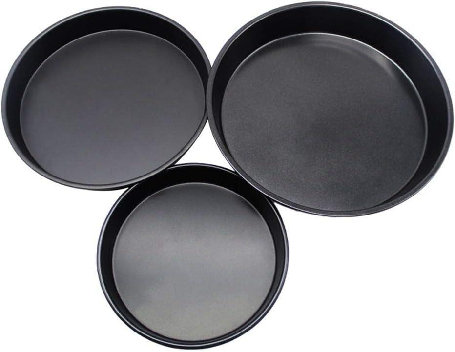 PRENKIN en Acier au Carbone Non-Stick Pizza Pan Four de Cuisson Plateaux Outils de moules /à Micro-g/âteau /à Micro-Ondes g/âteau Plaque de Moule Vaisselle Ustensiles de Cuisine Poulet