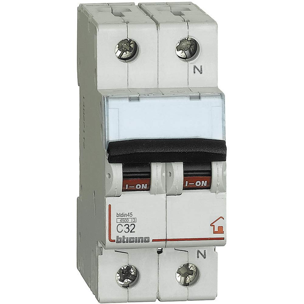 MAGNETOTERMICO DIFFERENZIALE 32A 0,03A 4,5KA CL AC BTICINO GC8813AC32