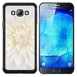 LECELL--Funda protectora / Cubierta / Piel For Samsung Galaxy A8 A8000 -- Blanca flor de la flor --