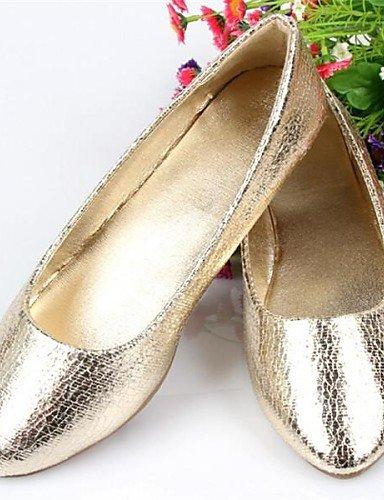 PDX/ Flascher Absatz - Kunstleder - FRAUEN Spitze Zehe - Flache Schuhe ( Gold ) gold-us7.5 / eu38 / uk5.5 / cn38