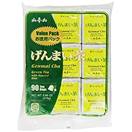 Yamamotoyama Genmai Cha Roasted Brown Rice Green Tea Value Pack, 90 Count Tea Bags, Net Wt. 9.86-Ounce 11 Yamamotoyama Genmaicha Green Tea Non-GMO Gluten Free