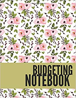 budgeting notebook vintage floral design personal money management